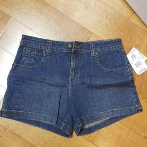 Shorts Jean size 10 Faded Glory Dark Stone